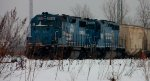 NS Manifest with former Conrail power only Tied Down in SK Yard