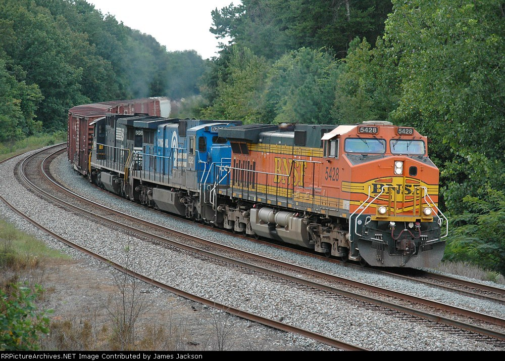 BNSF C44-9W & 2 C39's northbound
