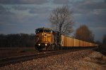 Union Pacific  coal rolls south with power plant material