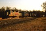 H train with SD40s
