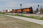 Eastbound BNSF stacks