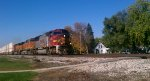 BNSF 8283 Leads eastbound through Mazon