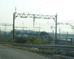 NJ Transit GP40FH-2 4139 with the rail adhesion (aqua) train