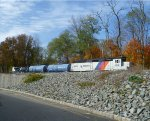 NJ Transit AquaTrack rail adhesion train