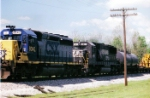 Q687-18 at Fogg behind CSX 8042, NS 6611