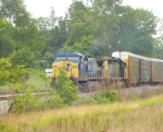 Q204-23 slips into the siding at Fogg