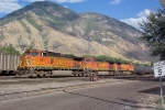 BNSF 5201, 4998 and 4635 in the yard