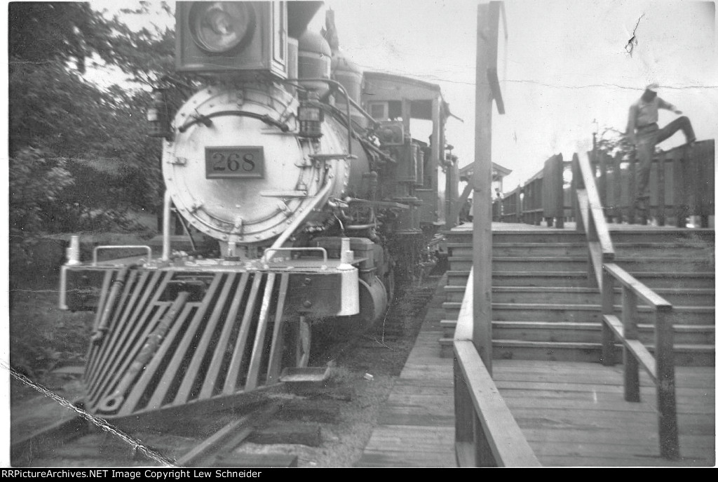 Rio Grande Number 268--the second narrow gauge shuttle