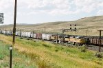 UP 8334 heads east on Oregon Short Line
