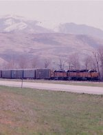 Eastbound with SD40s