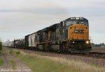 CSX SD80MAC on the Union Pacific at Findlay Illinois