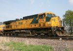 Ex CNW ols leading a southbound grain shuttle