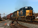 A pair of SD40-2's grind east with Q386