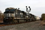 144 heads west through the siding for Elkhart yard