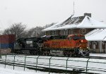 BNSF 7368 leads an eastbound