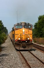 V740-23 heads east behind UP power