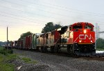 17R heads for Elkhart behind CN power