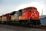 Brand new SD70M-2 CN 8945 leads 17R