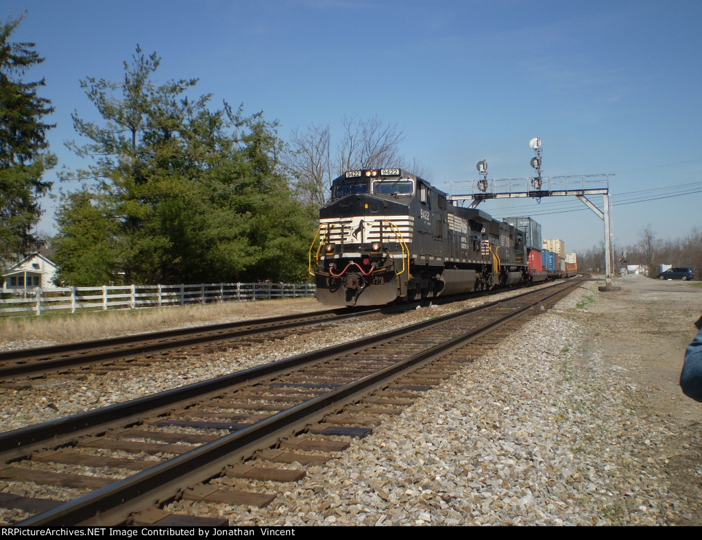 Southbound double stack train