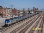 Amtrak 19 approaches Birmingham Station