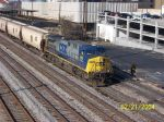Solo engine 485 leads CSX empty grain train
