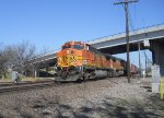 BNSF 5258  11Mar2011  EB across the diamond at OPAL with mixed merchandise 