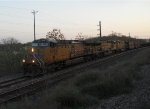 UP 6054 UP 7317 UP 7192  17Mar2011  Moving NB in CENTEX on the side waiting for SB Amtrak