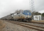 AMTK 67  8Mar2011  NB Train #22 (Texas Eagle) at the microwave site in CENTEX