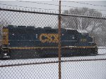 CSX 6129 sitting in Ann St yard