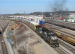 NS 2542 leading a smoking catfish out of Inman