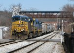 CSX 5295 leading a southbound through Marietta
