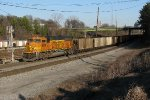 BNSF 8929 shoving on the rear of 735 after a quick crew swap