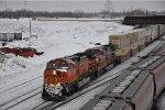 Eastbound intermodal ducks under the CP