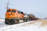 BNSF 6083 with ore loads for Granite City Steel Mill