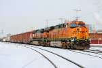BNSF brings the GALMAD train through the gates of the TRRA Madison Yard