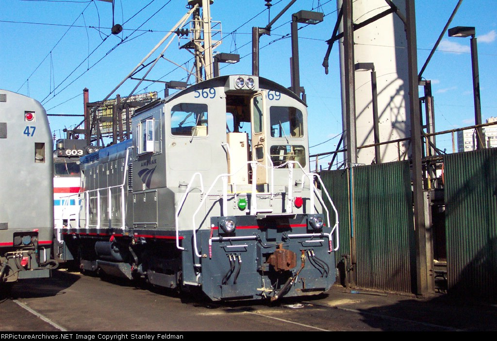 AMTK SW 1001 569 at Race Street Terminal.  2/2/2002