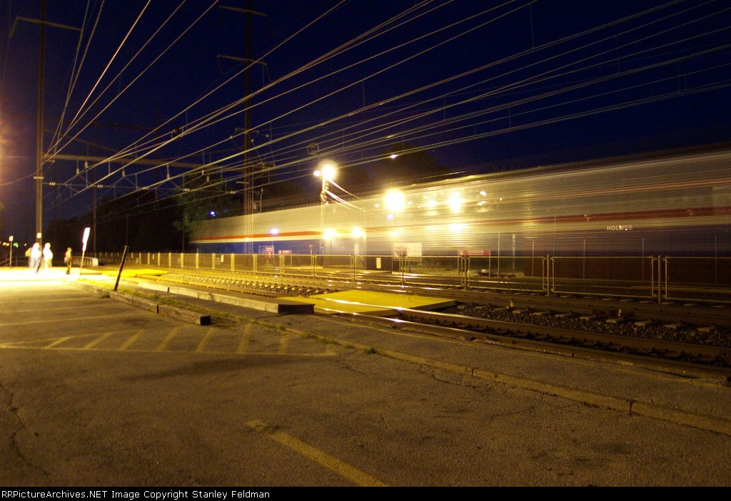 Amtrak Ghost Train at Holmesburg Junction.   August  2, 2001.