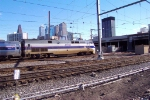 AMTK  108 pulls a southbound train in to 30th Street Station. 2/2/02