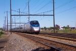 Acela Power Car 2035 leads a Westbound Acela Express at MP 78.  7/2/2001.