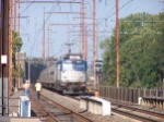 AMTK AEM-7s 919 passing Holmesburg Junction.