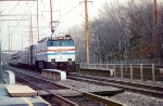 AMTK E-60 600 with a Florida bound train, passing Holmesburg Junction, Philadelphia Pennsylvania.