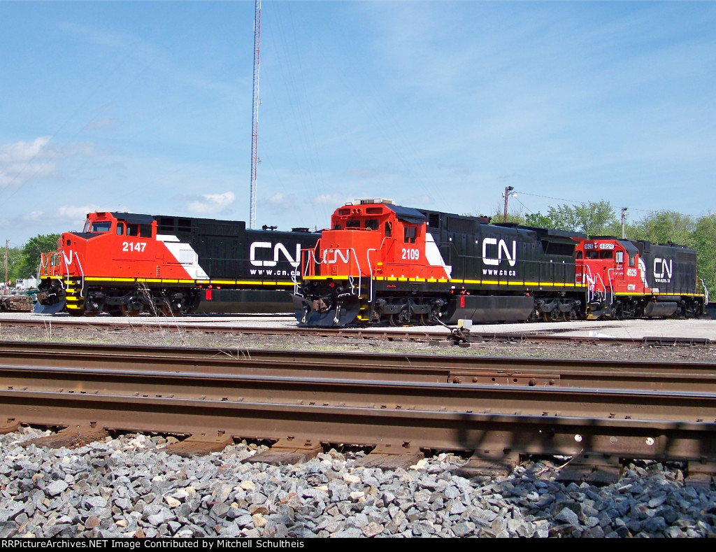 Newly Painted Engines