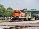 BNSF #2010 And BN Caboose #12528