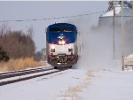 Amtrak #50 Flying Through The Snow