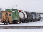 BNSF Industrial Local In The Snow