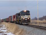 NS #8947 Leading A Southbound CN Mixed Freight