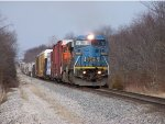 Southbound CN Mixed Freight With A Blue Devil And A Pumpkin Patch Engine