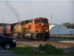 BNSF #6628 Leading A Flood Detoured Grain Train