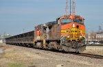 BNSF #4755 Leads a Ballast Train