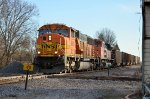 BNSF #8861 Leads a Coal Train Across Shattuc Interlocker
